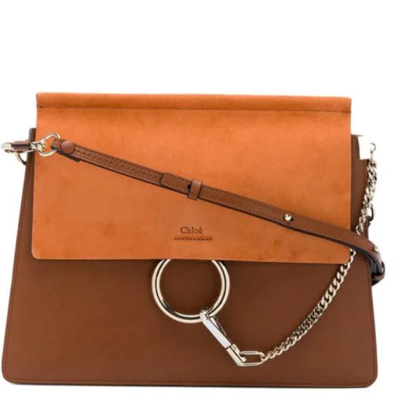 8dada701dbd CHLOÉ Faye leather and suede shoulder bag NWOT
